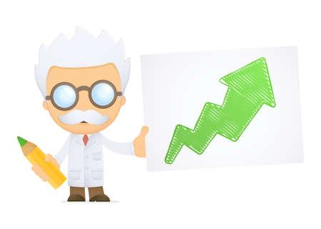 funny cartoon scientist Stock Vector - 13693151