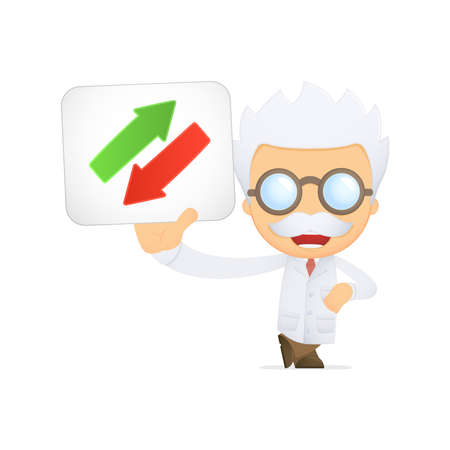 funny cartoon scientist Stock Vector - 13692678