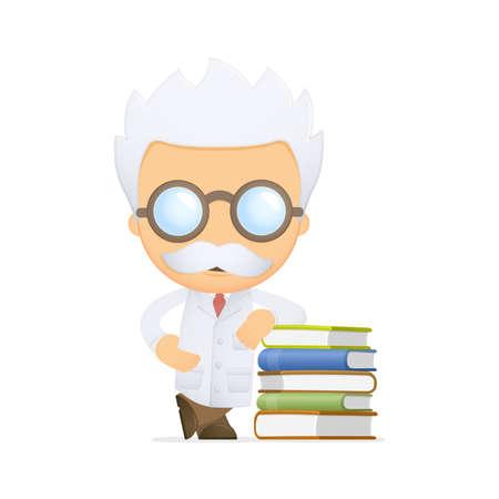 funny cartoon scientist Stock Vector - 13693209