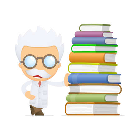 funny cartoon scientist Stock Vector - 13693340