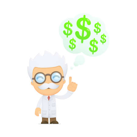 funny cartoon scientist Stock Vector - 13692912