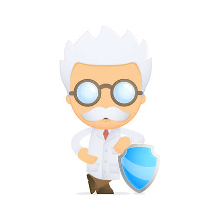 funny cartoon scientist Stock Vector - 13692658