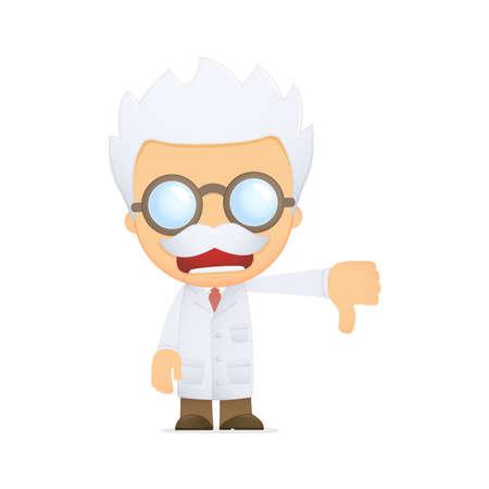 funny cartoon scientist photo