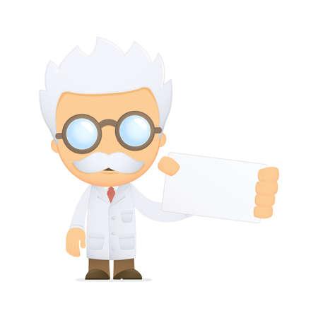 funny cartoon scientist Stock Photo - 13693661
