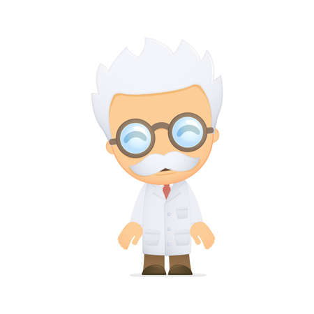 funny cartoon scientist photo