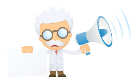funny cartoon scientist Stock Photo - 13693794