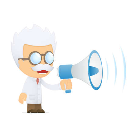 funny cartoon scientist Stock Photo - 13693777