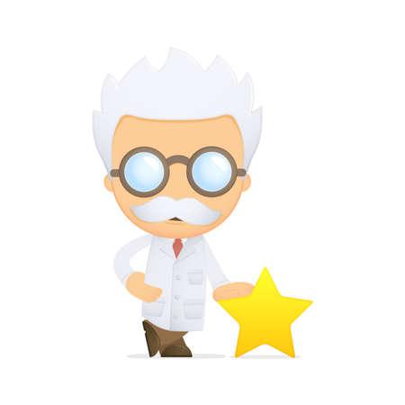 funny cartoon scientist Stock Vector - 13691050