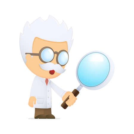 funny cartoon scientist Stock Vector - 13692824
