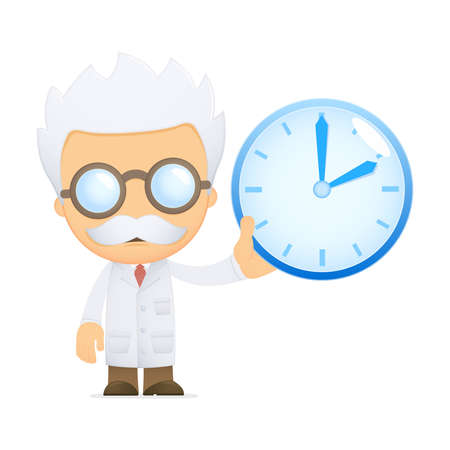 funny cartoon scientist Stock Vector - 13691319