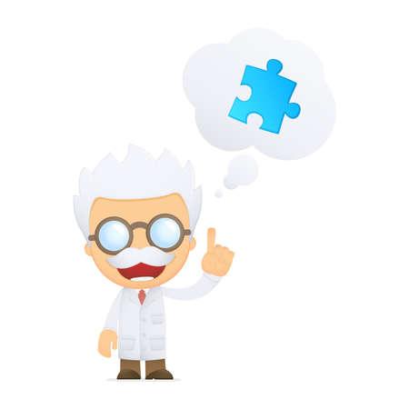 scienziati: scienziato del fumetto divertente Vettoriali
