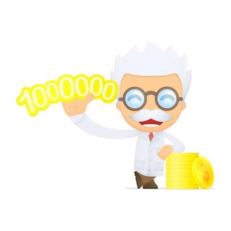 funny cartoon scientist Stock Vector - 13693553