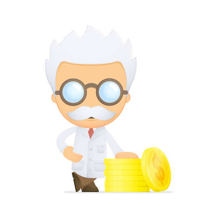 funny cartoon scientist Stock Vector - 13693166