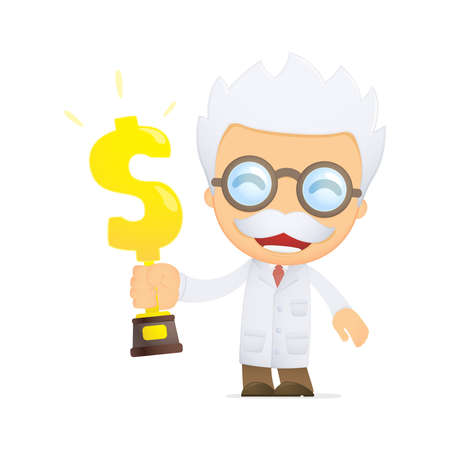 funny cartoon scientist Stock Vector - 13692707