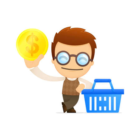 funny cartoon genius Stock Vector - 13701848