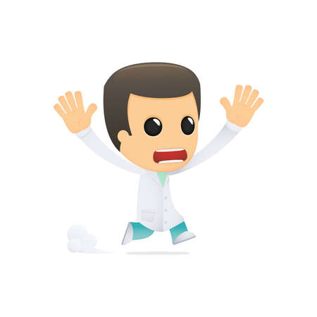 funny cartoon doctor Stock Vector - 13845062