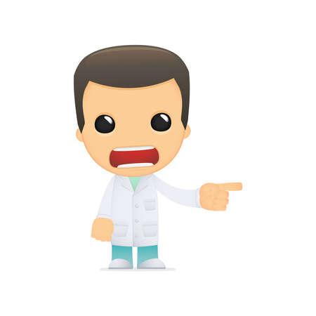 funny cartoon doctor Stock Vector - 13845061