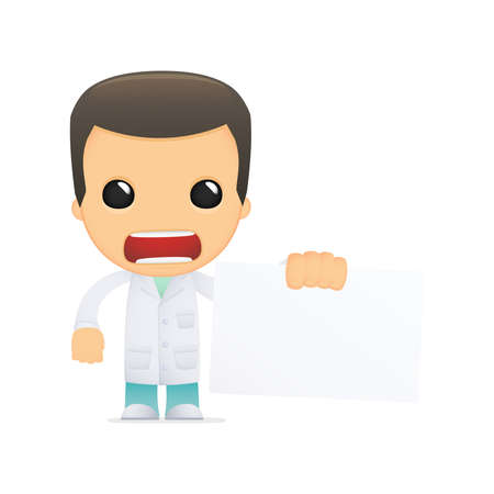 funny cartoon doctor Stock Vector - 13845086
