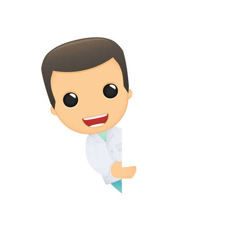 funny cartoon doctor Vector
