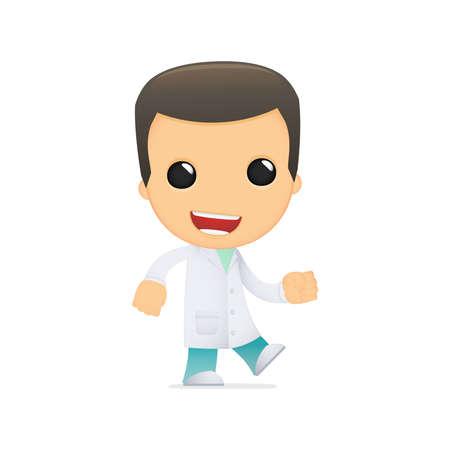 funny cartoon doctor Stock Vector - 13845037