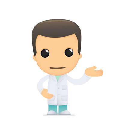 funny cartoon doctor Stock Vector - 13845013