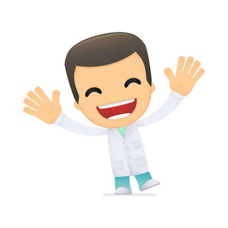 laughing: funny cartoon doctor