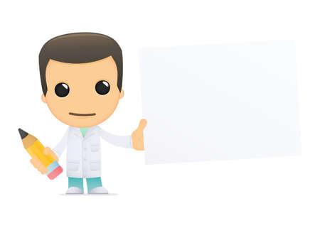 medical drawing: funny cartoon doctor