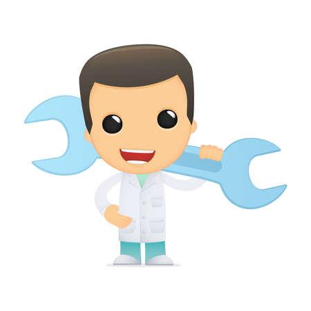 obstetrician: funny cartoon doctor