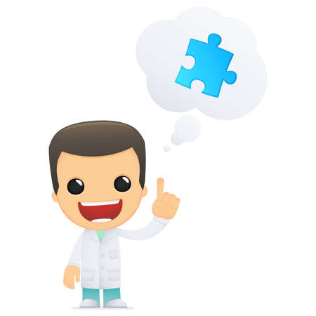 co operation: funny cartoon doctor