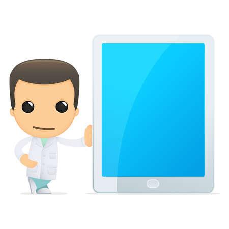 médico de divertidos dibujos animados