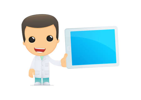 funny cartoon doctor Stock Vector - 13845183