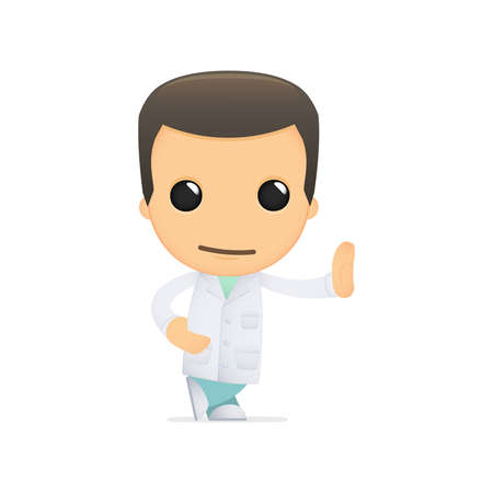 funny cartoon doctor Stock Vector - 13845145