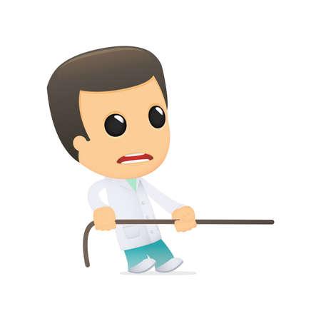 funny cartoon doctor Stock Vector - 13845070