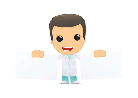 funny cartoon doctor Vector