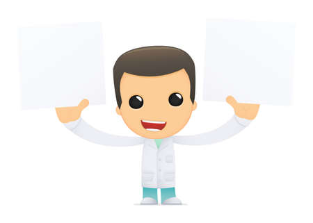 funny cartoon doctor Stock Vector - 13845071