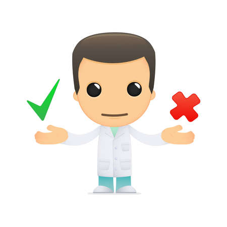 way of thinking: funny cartoon doctor