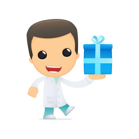surprise party: funny cartoon doctor