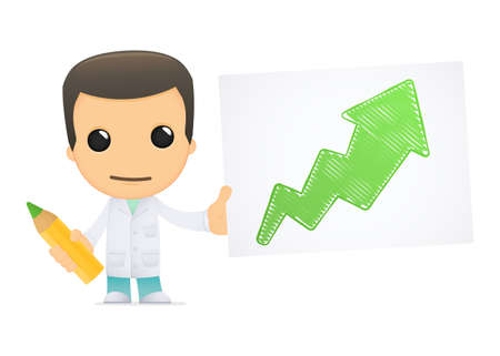 funny cartoon doctor Stock Vector - 13845291