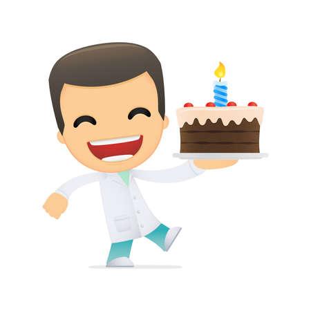 chirurgo: medico divertente cartone animato