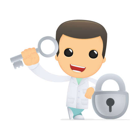 funny cartoon doctor Stock Vector - 13845289