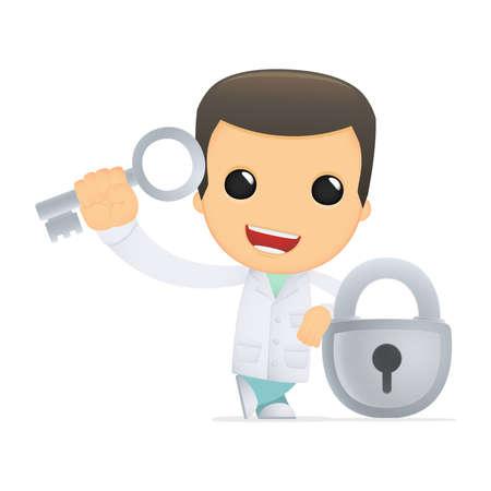 funny cartoon doctor Stock Vector - 13845289