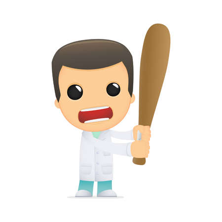 funny cartoon doctor Stock Vector - 13845137