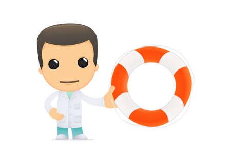 funny cartoon doctor Stock Vector - 13845164