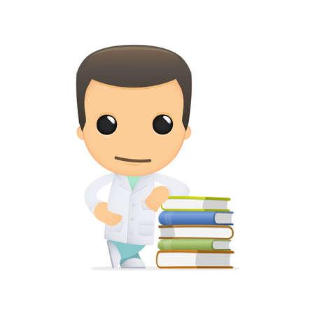 scientific literature: funny cartoon doctor