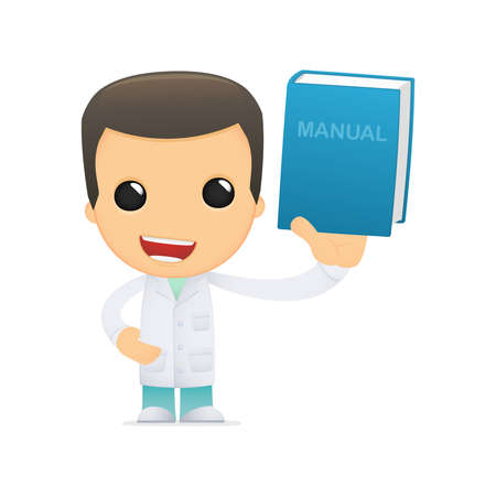 literary characters: funny cartoon doctor