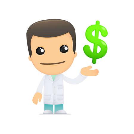 funny cartoon doctor Stock Vector - 13845102