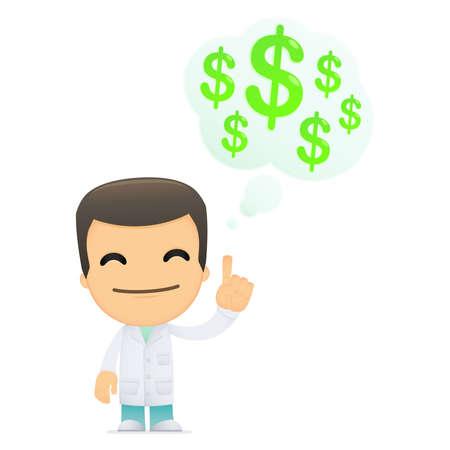 funny cartoon doctor Stock Vector - 13845260