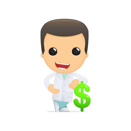 financial emergency: funny cartoon doctor