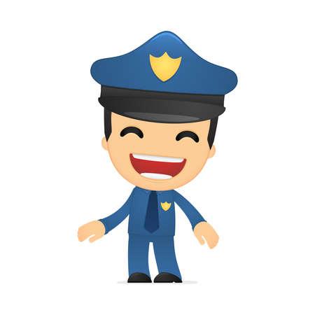funny cartoon policeman Stock Vector - 13889722