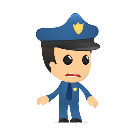 funny cartoon policeman Stock Vector - 13889824